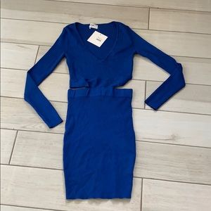 LF seek the label ribbed sweater dress